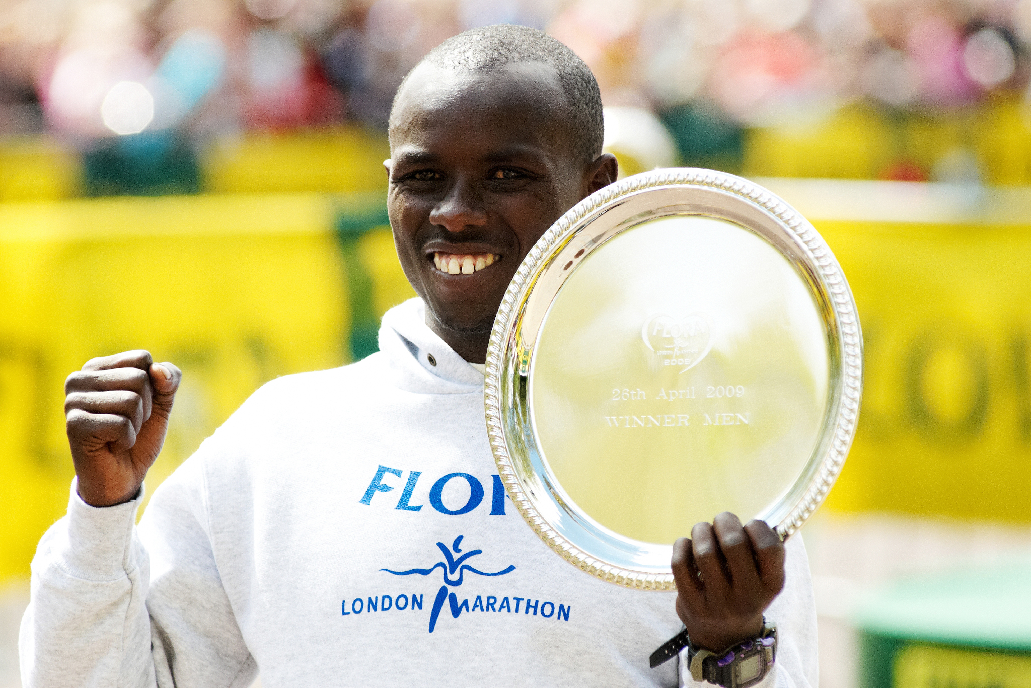 SamuelWANJIRU_Vainqueur_Marathon de Londres_26Avril2009
