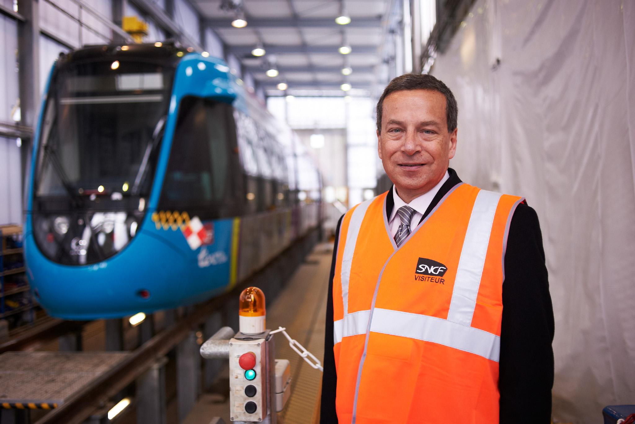 Visite Ateliers de Doulon (Jacques RAPOPORT et Claude SOLARD) - Inauguration Tram-Train  Nantes - Chateaubriant - 28 février 2014